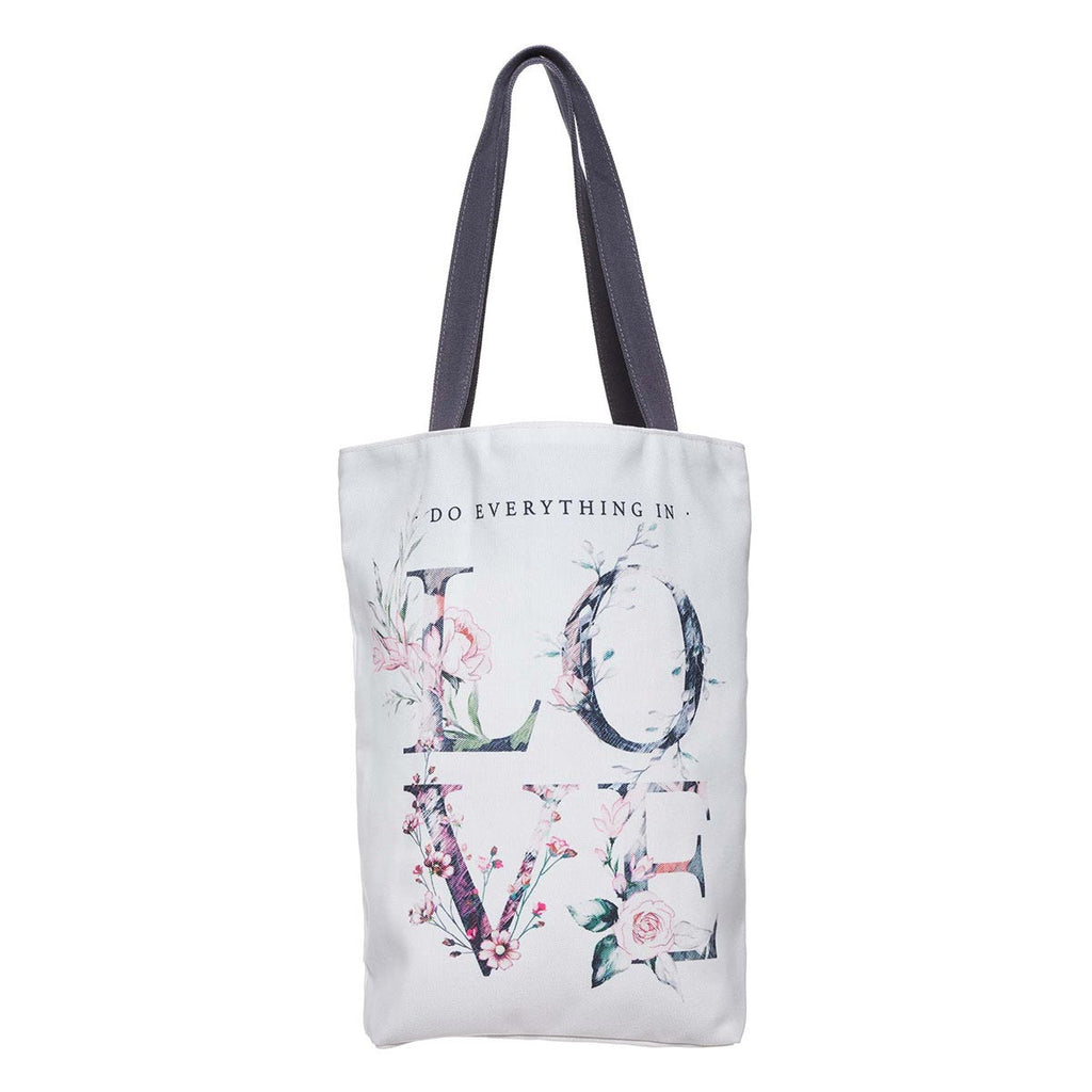 Do Everything in Love Canvas Tote Bag