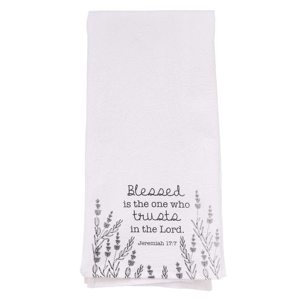 Trust in the Lord - Jeremiah 17:7 - Tea Towel