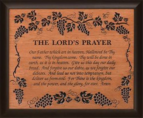 The Lord's Prayer Framed Carving