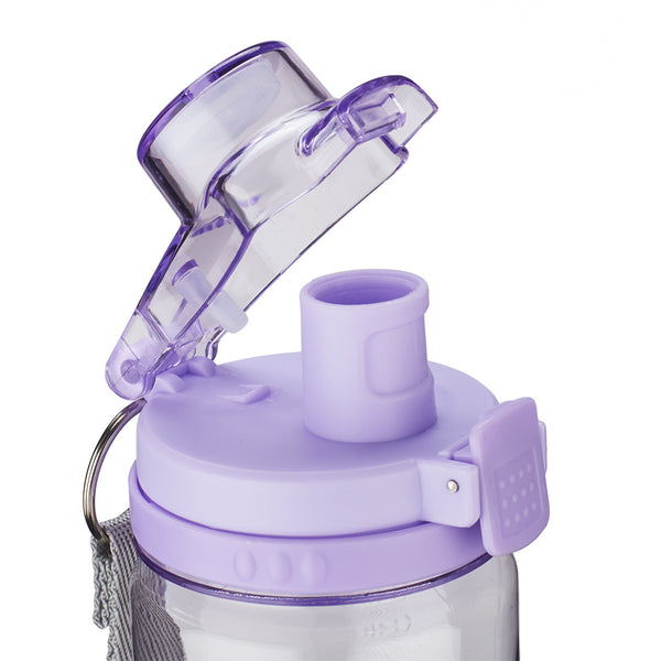 Trust in the Lord - Proverbs 3:5-6 - Purple Plastic Water Bottle