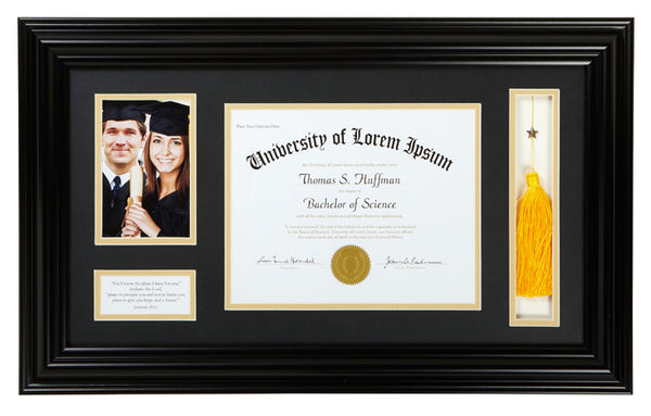 Graduation Diploma and Photo Frame - Jeremiah 29:11