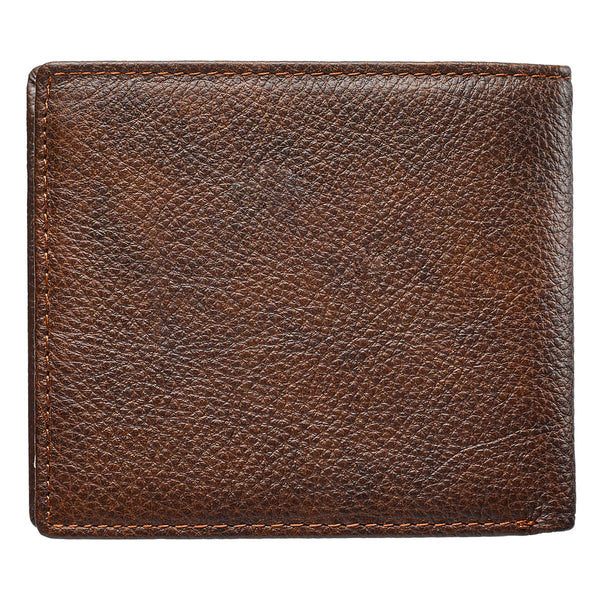 Be Strong and Courageous Two-Tone Genuine Leather Wallet