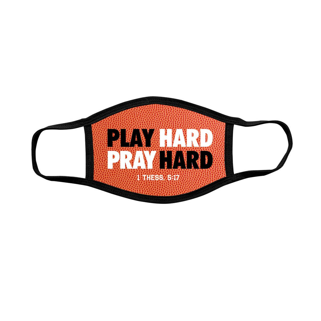 Play Hard - 1 Thessalonians 5:17 - Children's Face Mask