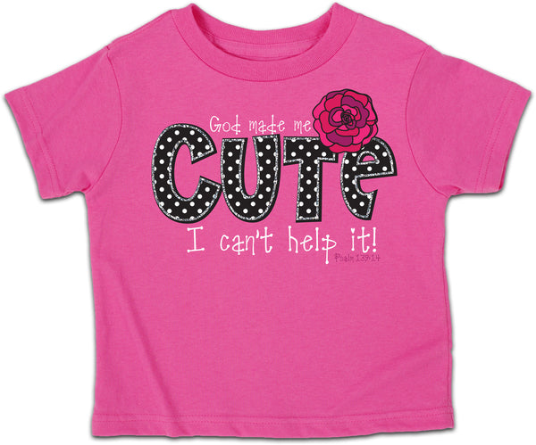 God Made Me Cute Children's Christian T-shirt