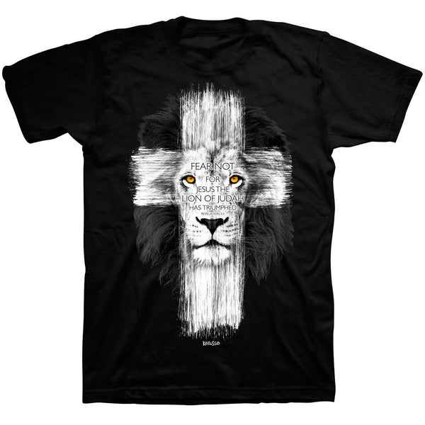 Lion Cross - Revelation 5:5 - Men's Christian T-shirt