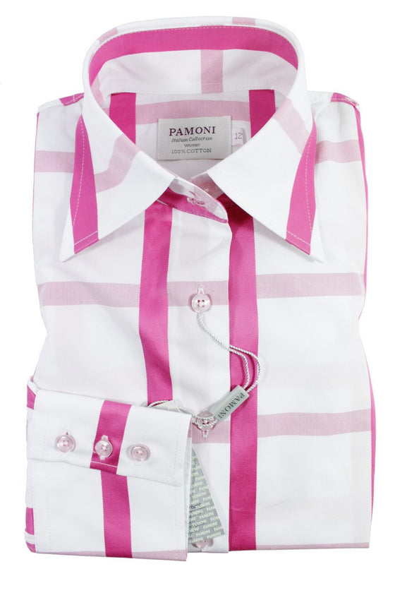Pink Check Fitted Shirt