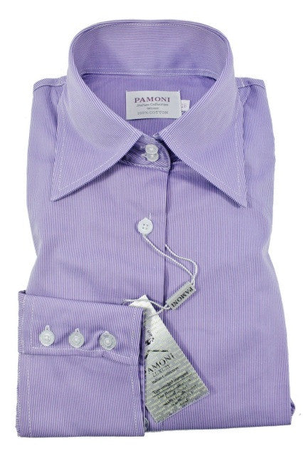 Lilac Stripe Fitted Shirt