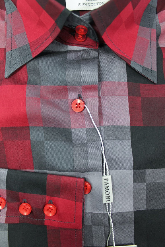 Black Burgundy Square Fitted Shirt