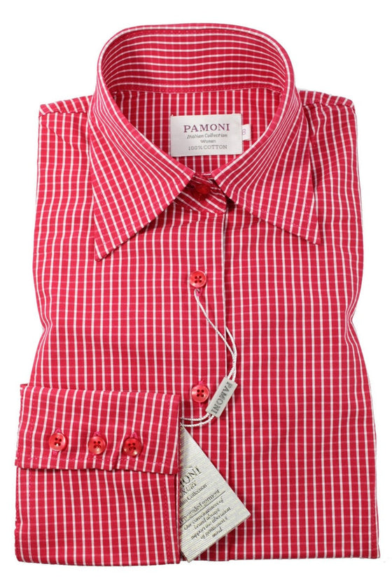 Red Check Fitted Shirt