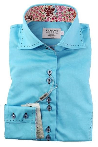 Turquoise Fitted Shirt