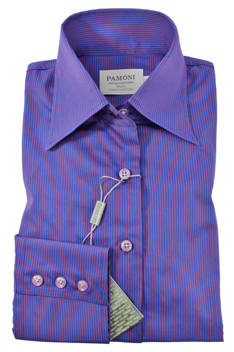 Purple Stripe Fitted Shirt