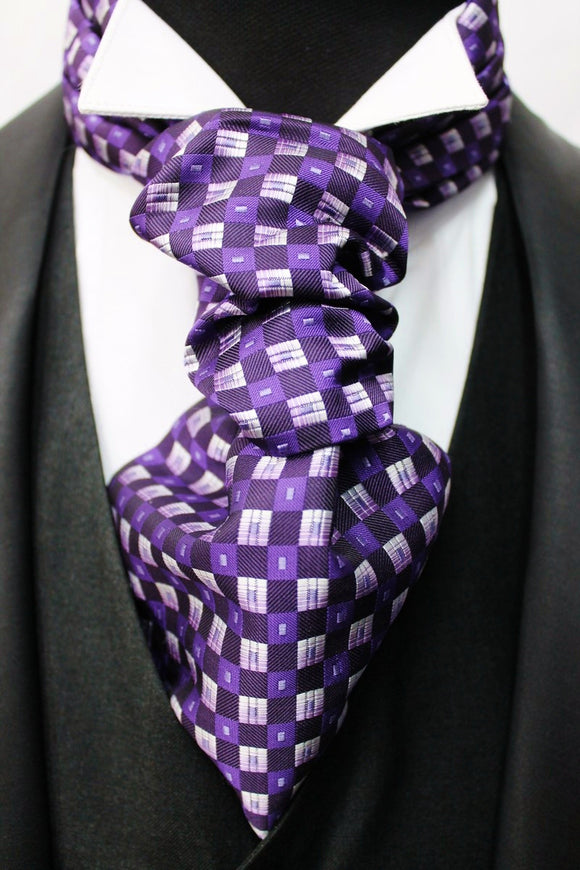 Purple Squares Design Cravat