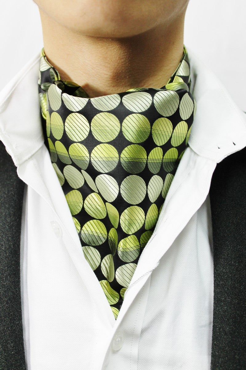 Lime Circles Design Cravat