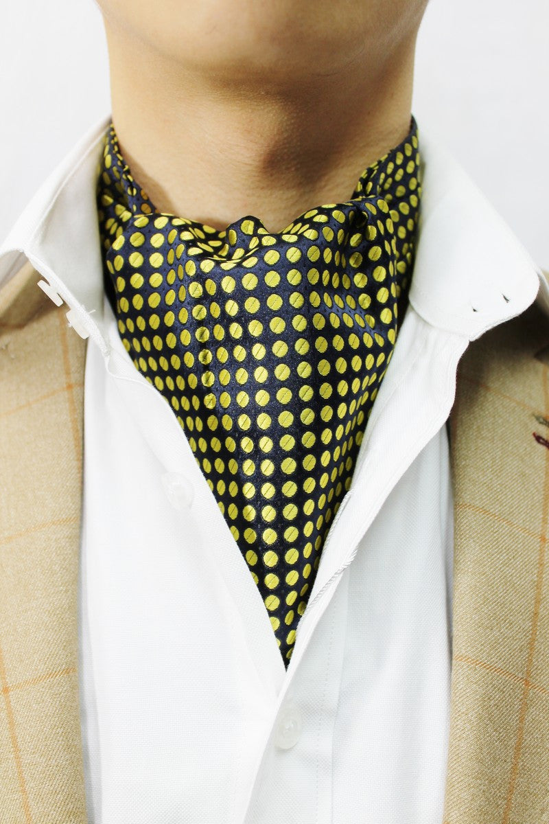Yellow Spots Design Cravat