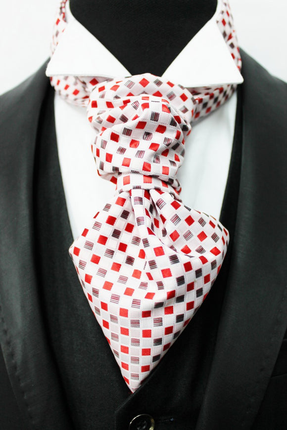 Red & Brown Squares Design Cravat