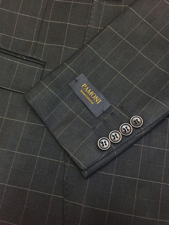 Black Check Slim Fit Suit