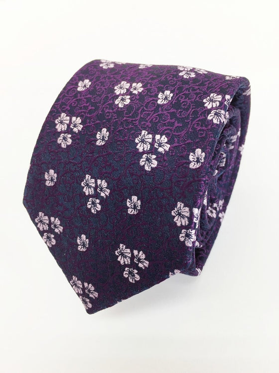 Purple Flower Tie