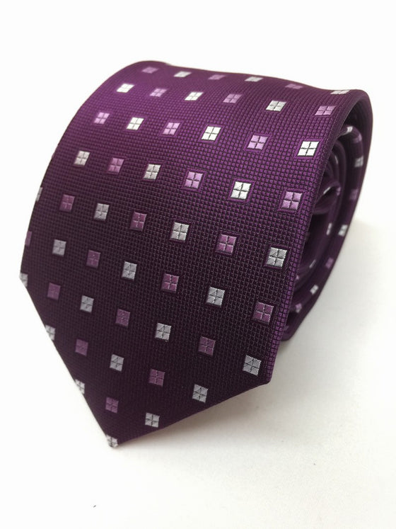 Purple Square Tie