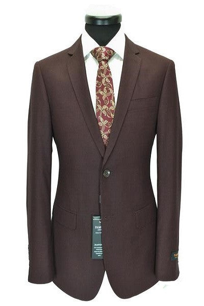 Maroon Birdseye 2-Button Slim Fit Suit