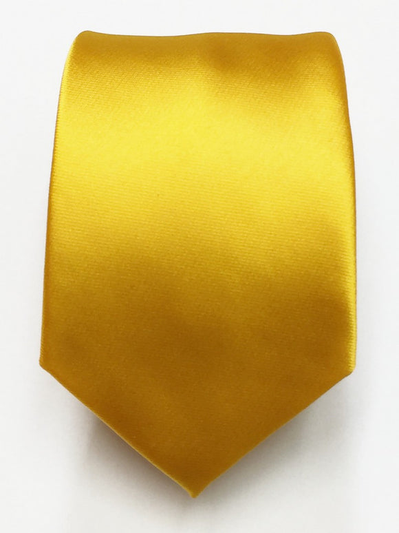 Plain Marigold Tie & Bow Tie Set