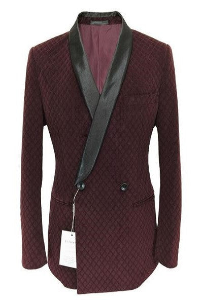 Double Breasted Flocked Velvet Blazer