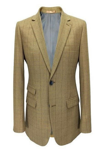 Beige Check Tweed Blazer