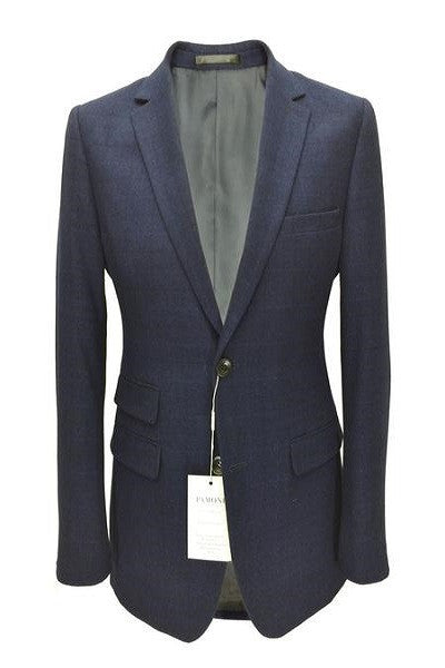 Navy Check Tweed Blazer