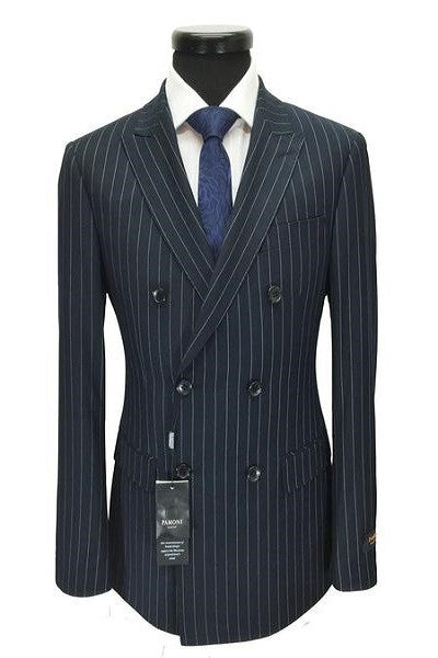 Navy Pinstripe Double Breasted Suit Better Look Shop