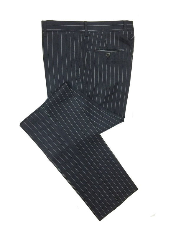 Navy Pinstripe Double Breasted Suit