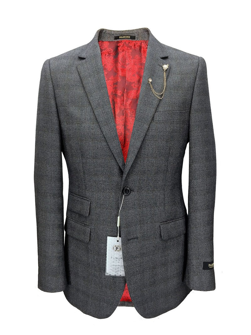 Grey Check Tweed Blazer