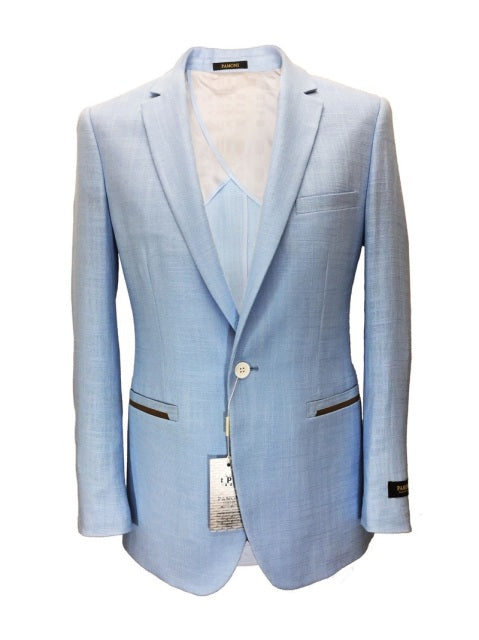 Light Blue Linen/Cotton Blazer