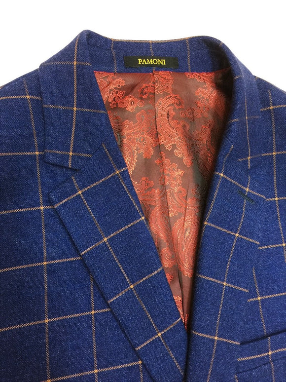 Royal Blue Check Tweed Blazer