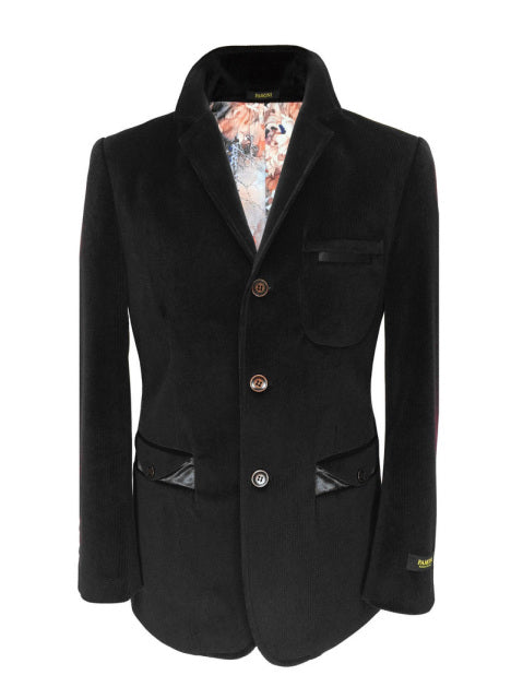 BLACK VELVET CASUAL JACKET