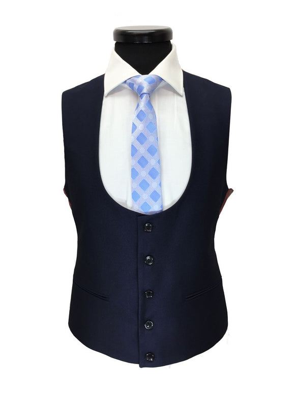 NAVY SLIM FIT ONE BUTTON 3-PIECE SUIT