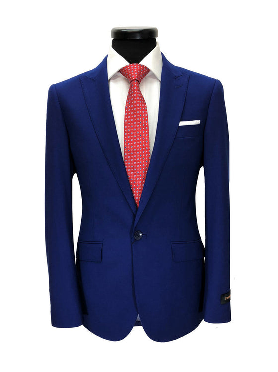 ROYAL BLUE 1-BUTTON SLIM FIT SUIT