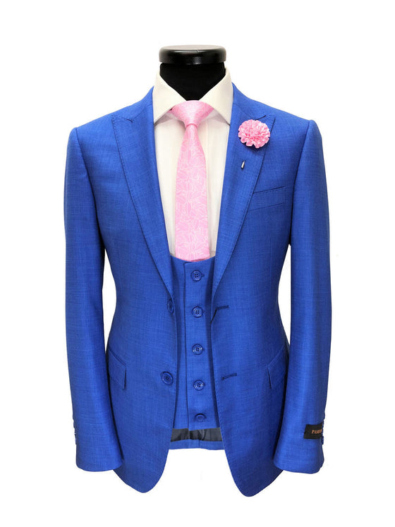 ROYAL BLUE 2-BUTTON 3-PIECE SUIT