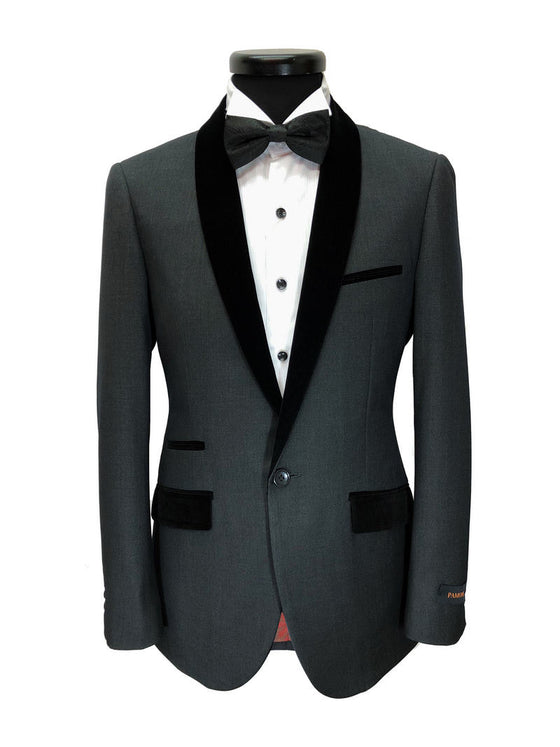 CHARCOAL GREY DINNER SUIT