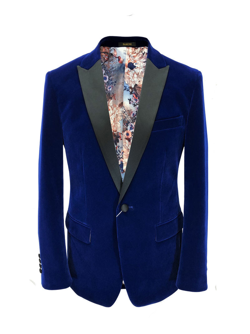 ROYAL BLUE VELVET DINNER JACKET
