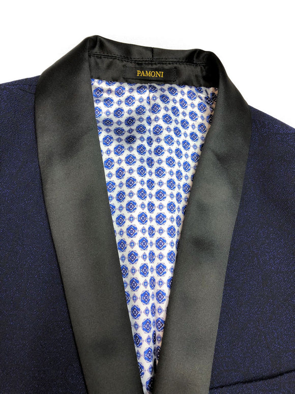 BLUE TEXTURED DINNER JACKET