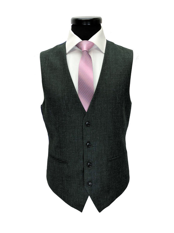 Grey Sharkskin One Button 3-Piece Suit