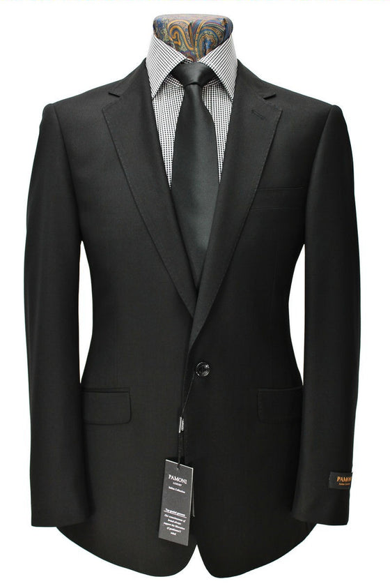 Black 1-Button Slim Fit Suit