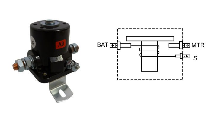 ground activated switches are a bit different in that the switch coil is  internally connected to the bat post  this means one end of the coil is  always
