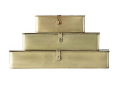brass stacking boxes