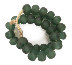 emerald green sea glass beads