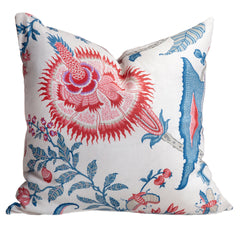 coastal pillow fresh pink and blues