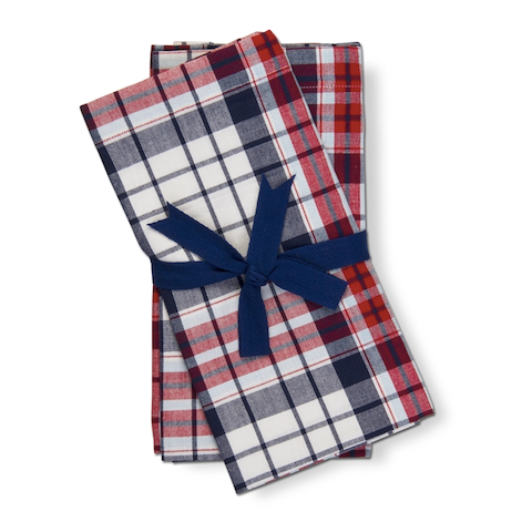 Arlo Plaid Napkins Set/4