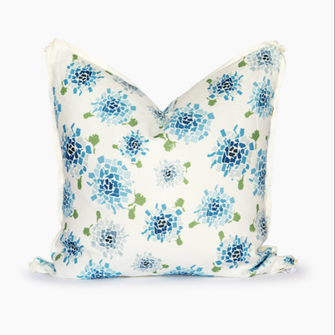 Blue Hydrangea Square Pillow