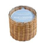 2-Wick Handwoven Wicker Candle