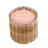 Coconut Rose Two Wick Candle