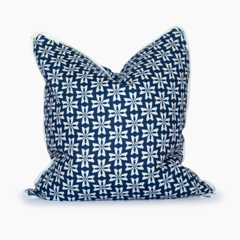 Dogwood Pillow in Navy